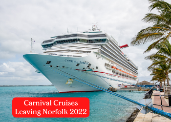Carnival Cruise leaving Norfolk, VA 2022